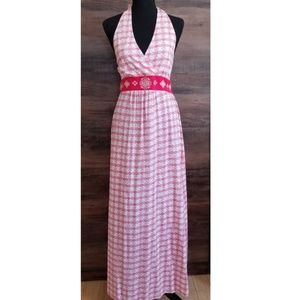EUC Tommy Hilfiger Halter Maxi Dress